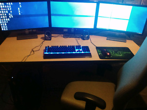 Gaming pc   with surround monitor