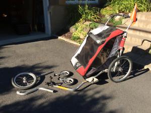 Remorque de vélo Chariot Cougar double