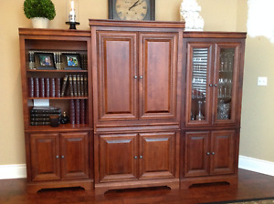 Entertainment Armoire with matching display cases