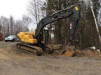 Volvo EC160DLC excavator,pelle excavatrice