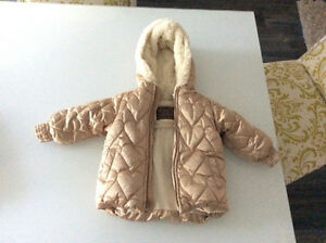 Old navy gold jacket very warm 18-24 months