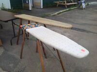 Vintage wooden ironing boards