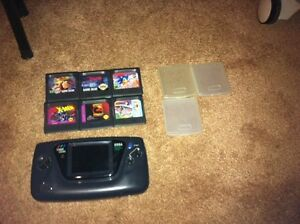 Sega game gear with 6 games