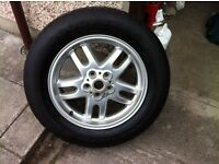 Land Rover wheel and tyre