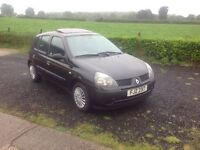 2003 Renault Clio 1.2 Expression automatic black 5 door mot May 17