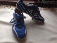 Umbro football boots blue size: 9.5 used £3