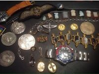 Wanted gold silver jewellery coins watches medals antiques