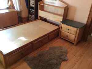 Single child's bed and night table for sale