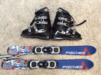 Women's ski blades and boots