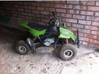 Child's 50cc quad and 50cc malaguti grizzly 10.