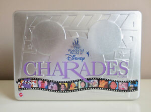 Wonderful World of Disney Charades 100% Complete 1999 Tin Box