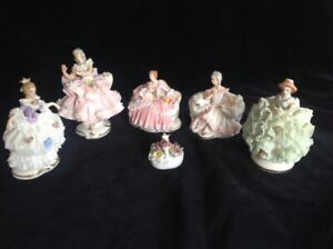 Dresden lace figurines