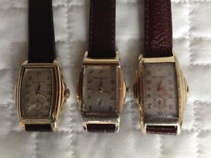 Montres bracelet Antiques.