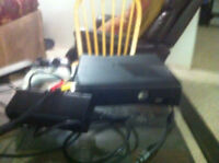Xbox 360 with 6 disc games and numerous downloaded games