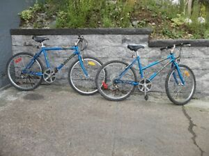 HIS AND HERS RALEIGH MOUNTIAN BICYCLES