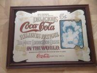 Framed vintage Coca Cola mirror