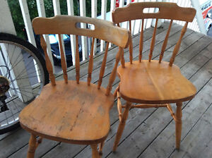 Wood chair for sale - Excellent for patio or kitchen