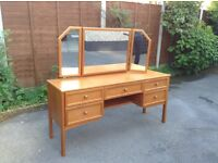 Dressing table with matching seat