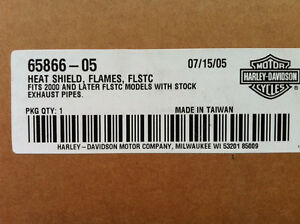 Harley flame heat shields softail New