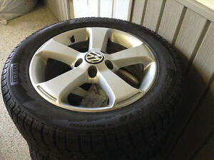 VW Golf/GTI Mag Wheels & Pirelli Snow Tires (4)