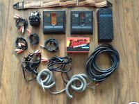Collection of Foot Pedals ( Zoom & Rocktec ) & Wires for Electric Guitar