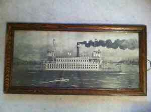 antique framed print of ferry North Van. to Van. pre-Lion's Gate Downtown-West End Greater Vancouver Area image 1