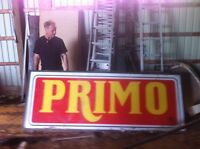 Large plexi glass sign 3 by 8 feet