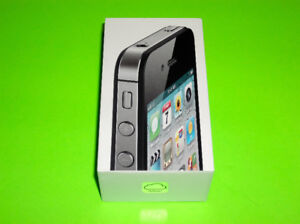 APPLE IPHONE 4S BLACK 16GB LEATHER CASE GLASS SCREEN PROTECTOR