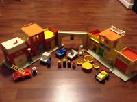 Vintage Fisher Price Play Family Village