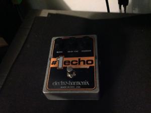 Echo guitar pedal