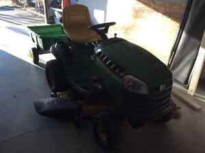 John Deere D140 (only 2 years old!) and lightly used trailer