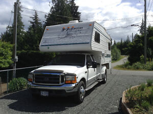 11' FRONTIER CAMPER / 2001 FORD 1 TON PICKUP