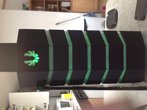 Massive gaming tower case with red and green led
