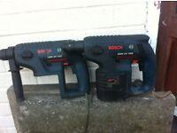 2 x Bosch Cordless Hammer drills