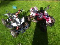 2x mini moto quads