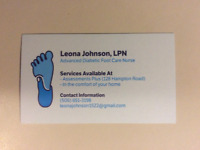 Footcare  Nurse  KV area and SaintJohn