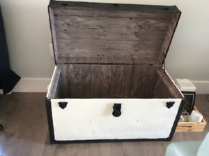 Beautiful antique metal trunk