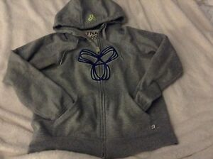 TNA large grey sweater, zipup, hoodie, good condition  London Ontario image 3