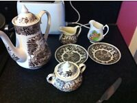 Old fashioned coffee pot set