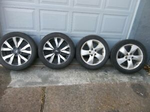 $100 DOLLORS-FOR FOUR 17 INCH  ALLOY RIMS AND TIRES