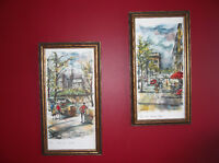 Vintage Paris Watercolour Prints by Arno (Set of 4)