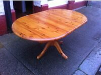 Pine dining table n 5 chairs