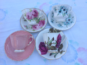 Vintage Tea Cups & Saucers, Aynsley, Royal Albert