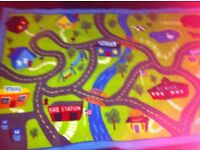 Children's map to play cars on. Very new