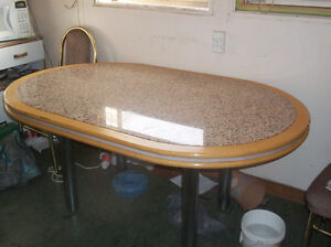GRANITE OVAL TABLE Edmonton Edmonton Area image 3