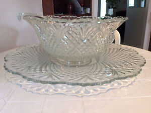 Punch bowl and tray