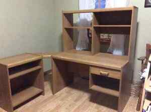 Free computer desk and printer stand
