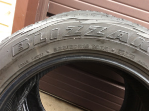 4-Bridgestone Blizzak SNOWTIRES 235/60/18