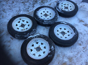 Trailer tires and rims Edmonton Edmonton Area image 1