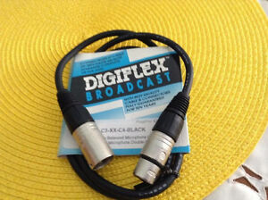 Double balanced microphone cable 3' by digiflex